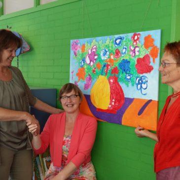 VoorleesExpress geeft schilderij cadeau